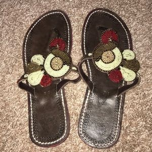 Shoes - Beaded African Sandals size 9